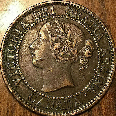 1859 CANADA LARGE CENT PENNY LARGE 1 CENT COIN - Excellent example!