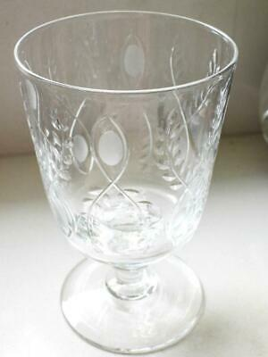 Antique Victorian Hand Blown Glass Rummer - Etched Webb England C.1890