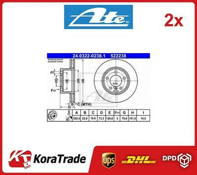 ATE BRAKE DISCS+CERAMIC PADS FRONT VENTED Ø292 BMW 3 SERIES E90 316-320 05-11