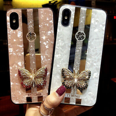 Luxury Glitter Butterfly Diamond Girl's Case Cover for iPhone 11 XS Max XR 6 7 8