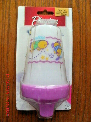 NEW Playtex The Original Spill-Proof Cup 6 oz purple chick design