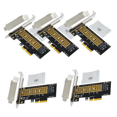 5Pcs NGFF M.2 NVMe SSD to PCIE 3.0 X4 X8 adapter M Key Interface Card Test Card