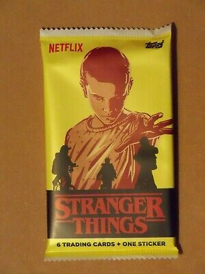 Topps STRANGER THINGS SEASON 1 16-Pack Lot + TERRY IVES Patch