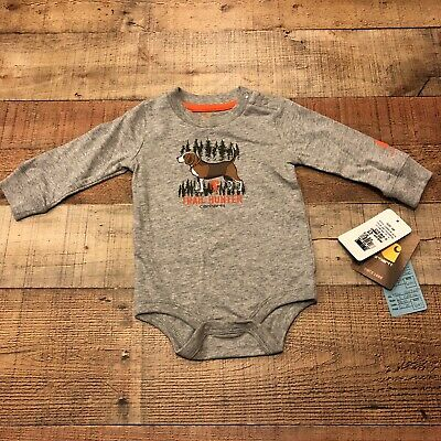 "CARHARTT BABY ONE PIECE /""FUTURE HUNTER/"" 6 MONTH CAMO//ORANGE NWT FAST SHIPPING"