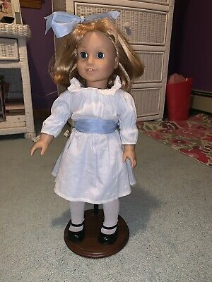 "American Girl Doll Nellie O'Malley 18"" Blond Dress Purse Historical Retired 2009"