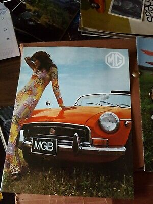 1970  MGB Factory Original Sales Brochure  8 Pages Shows Modified Race Car