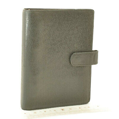 LOUIS VUITTON Taiga Agenda MM Day Planner Cover Ardoise R20222 LV Auth 10968
