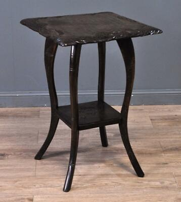 Attractive Small Vintage Oriental Flower Carved Hardwood Hall Side Table