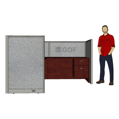 GOF 1 Person Workstation Cubicle(5'D x 6'W x 4'H) /Office Partition,Room Divider