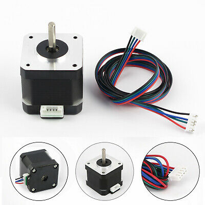 Metal Nema 17 Stepper Motor Bipolar 2A 59Ncm Body 4-lead For 3D Printer Hot 42mm