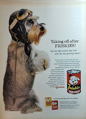 Lot of 3 Vintage Friskies Dog Food Print Ads Schnauzers Out Scouting