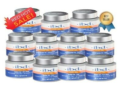 100% AUTHENTIC IBD LED/UV HARD BUILDER GEL 56g / 2 oz**CHOOSE YOURS**