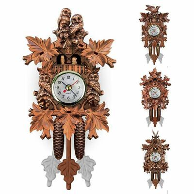 Vintage Home Decorative Bird Wall Clock Hanging Wood Cuckoo Clock Living Room Pe