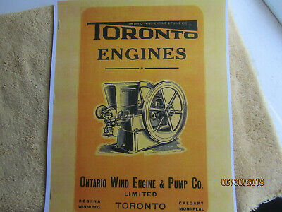 Toronto Gas Engine Catalog, All Nelson Brothers Engines, Ontario Wind Engine Co.