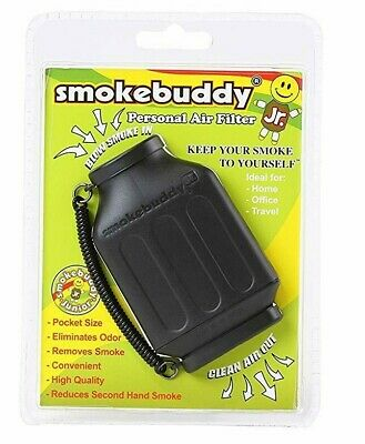 Smoke Buddy Personal Air Filter Prevents Smell from Smoking, Black Gift Free