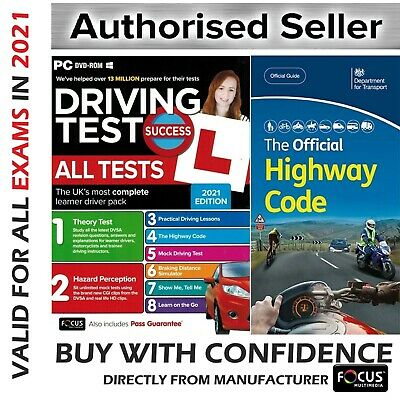 2020 Driving Theory Test and Hazard CD DVD + Official DSA Highway Code Book DVLA