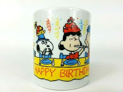 Vintage Peanuts Gang Happy Birthday ~ Snoopy Woodstock Lucy Charlie Brown