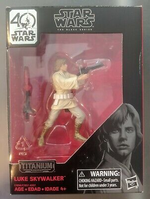 Star Wars The Black Series Titanium Series Luke Skywalker NO DIORAMA BACKGROUND