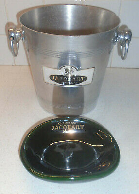 French Champagne Ice Bucket Jacquart Reims + Jacquart bowl by Villenauxe ceramic