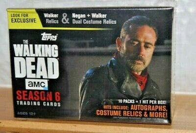 2017 Topps THE WALKING DEAD Season 6 Blaster Box 1 Hit- Auto?Dual Relic 61 Cards