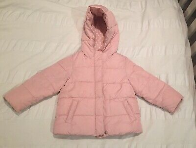 Baby Gap Pink Recycled Shell Puffer Jacket Coat Age 4 Toddler VG Condition