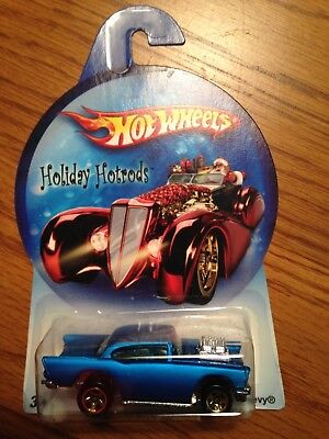 2007 Hot Wheels Walmart Exclusive Holiday Hot Rods '57 Chevy blue variant