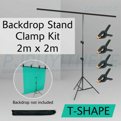 Photography Backdrop Background T Shape Stand Studio Photo Portable Support Kit
