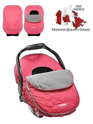 JJ Cole Car Seat Cover, Sassy Bright Pink Wave