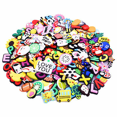 150 pcs Fruit Animals Cars Number Letters Food Shoe Accessory Fit Wristbands