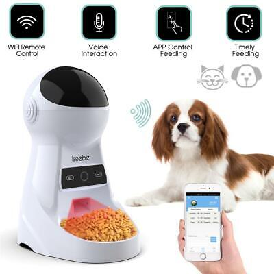 Iseebiz 3L Automatic Pet Feeder With Voice Record Pets food Bowl For Medium Smal