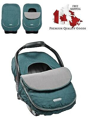 JJ Cole Baby Car Seat Cover, Teal Fractal