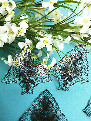 """324 #Splendid Delicate Inlay Lace Tapered Thread Silk """" Lilac """" Art New"""
