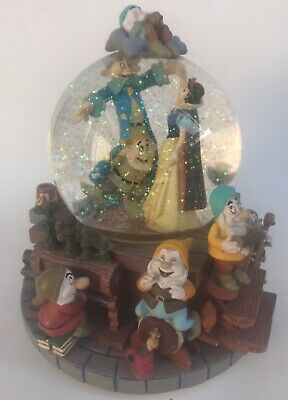 "Disney Snow White & The Seven Dwarfs Musical Snow Globe ""I Whistle A Happy Tune"""
