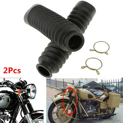 uxcell Black Rubber Front Shock Absorber Protection Dust Cover Pair 38cm Long