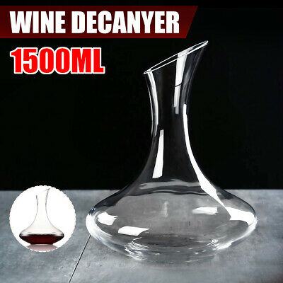 1500ML Lead-Free Luxurious Glass Crystal Wine Decanter Elegant Pourer Red Wine