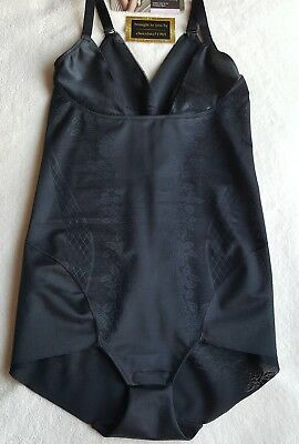 """New M&S """"Magicwear Wear Your Own Bra Lower Leg Shaping/Smoothing Body Black - 14"""