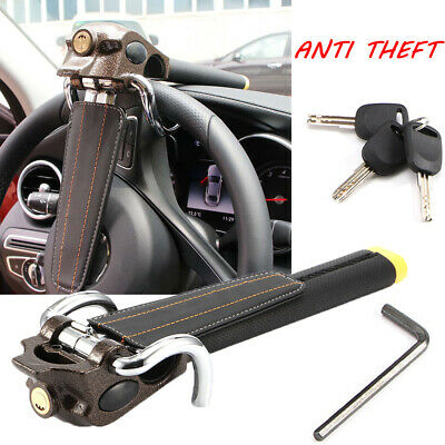 Universal Vehicle Car Steering Wheel Security Lock Anti-Theft W/ 3 Keys Foldable