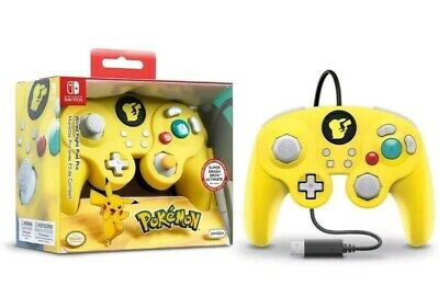 Nintendo Switch Pokemon Pikachu Game Cube Style Wired Fight Pad Pro Controller