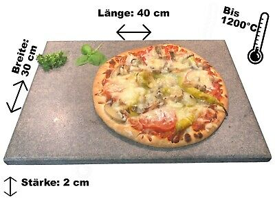 Brotbackstein / Pizzastein Naturstein 40x30x2cm  Made in Germany Ofen Grill