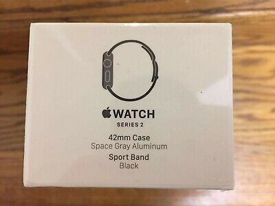 Brand New Apple Watch Series 2 42mm Smart Watch - Space Gray/Black (MP062LL/A)