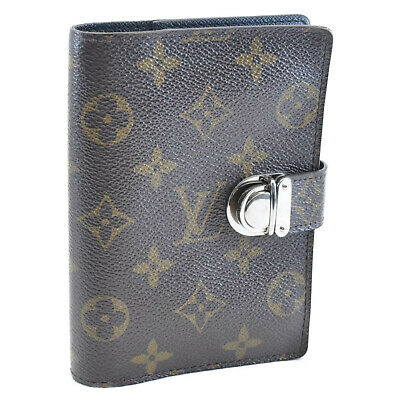 LOUIS VUITTON Monogram Agenda Coala Day Planner Cover Black R21012 LV Auth 11306
