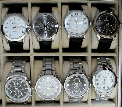 Metal Lot Destockage Bracelet A MONTRES 8 Quartz HOMME De