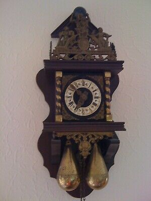 Dutch Warmink Zaanse Chain Driven Wall Clock. Walnut Case.works Perfectly.