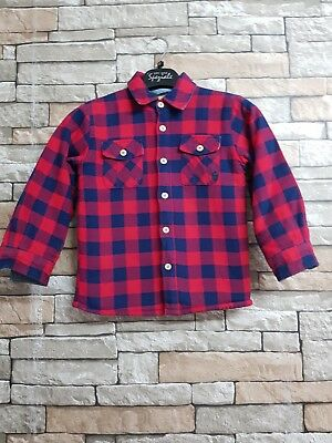 Boys Joules Red & Blue Check Long Sleeve Shirt Size 4 Yrs  100% Cotton Ref 20