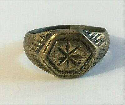 Byzantine Era Ring - Star Design - Bronze