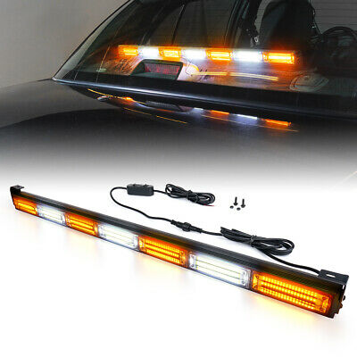 "Xprite 31"" LED Strobe Light Bar Emergency Warning for 12V Trucks Jeep SUV 4X4"