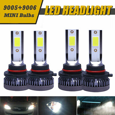 Mini 9005 + 9006 Combo LED Headlight Kit 520000LM High/Low Beam Bulbs 6000K CT