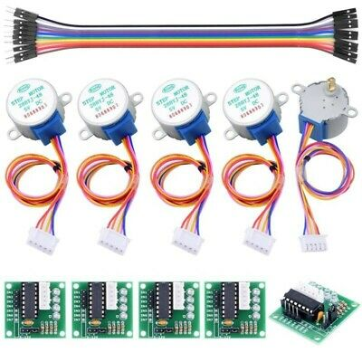 5 Sets 5V 4-Phase Geared Stepper Motor+ULN2003 Driver Board 28BYJ-48 For Arduino