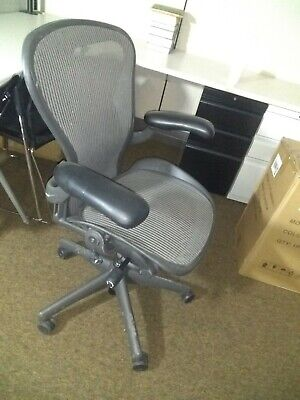 Herman Miller Aeron Office Chair - Graphite, Size B, 8 Available