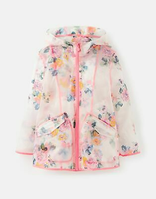 Joules Girls Raindance Clear   Showerproof Rubber Coat  -  Size